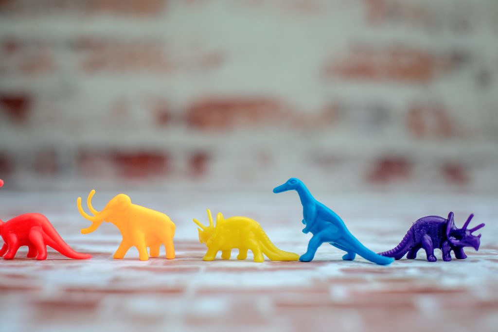 colorful dinosaurs